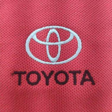 งานปักเสื้อโปโล LOGO TOYOTA