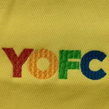 งานปักเสื้อโปโล LOGO YOFC
