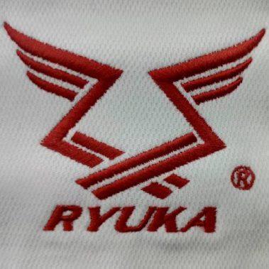 งานปักเสื้อโปโล LOGO RYUKA