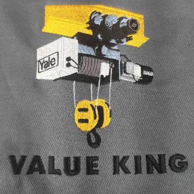 งานปักเสื้อโปโล LOGO VALUE KING