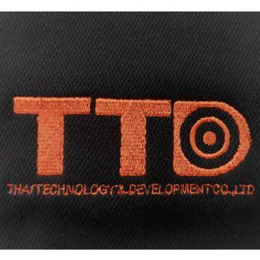 งานปักเสื้อโปโล LOGO TTD